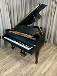BEAUTIFUL EBONY STEINWAY AND SONS MODEL M PIANO REBUILT BY STEINWAY HALL