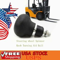 1x Steering Wheel Spinner Knob Turning Aid Ball Tractor Forklift 8mm Screw Usa