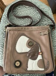 Chala Dog Purse Handbag Bag Brown Puppy Shoulder Strap $37.20