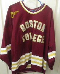 Vintage Boston College Eagles Ccm Men Large Hockey Jersey Sewn Letters Numbers