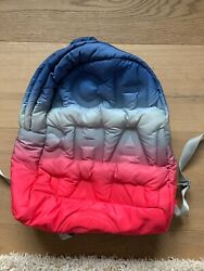 Authentic Doudoune Backpack Embossed Nylon Pink/blue