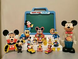 Disney Vintage Toy Lot Mickey Mouse Donald Duck Arco Illco Gabriel Wind-up