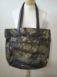 FILSON Tote Bag Camouflage Camo Leather Cotton Oil Wax Processing Women's USED