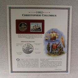 1992 S Christopher Columbus Half Dollar - Postal Commemorative Coin And Stamp
