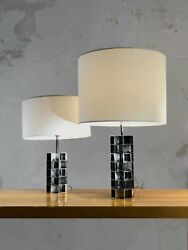 1970 2 Lampe Sculpture Cinetique Post-moderniste Shabby-chic Space-age Sobrino