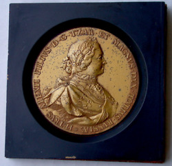 Russia .peter I The Great Porcelain Medallion
