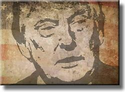 Vintage Donald Trump Picture On Stretched Canvas Wall Art Dandeacutecor Ready To Hang