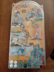 Nutty Mads Bagatelle Playline Action Game Marx 1964 Very Little Play Great Shape
