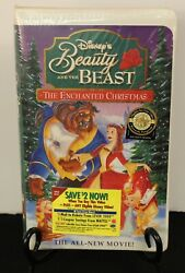 Walt Disneyand039s Beauty And The Beast Enchanted Christmas New/sealed Vhs 1997