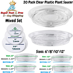 Garden Plant Saucer Drip Tray Round Pot Base Clear Snack Container Desktop Trash
