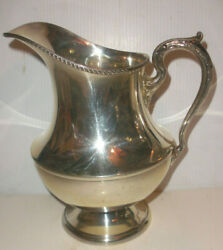 9.5 Vintage Poole 1027 Sterling Silver Georgian Water Pitcher