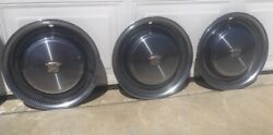 Cadillac Hubcaps Set Of 3 Flash Sale