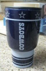 Dallas Cowboys 14 Oz Cermanic Drinking Cup With Lid New