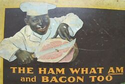 Armour's Star Ham And Bacon Antique Advertising Sign The Ham What Am And Bacon Too