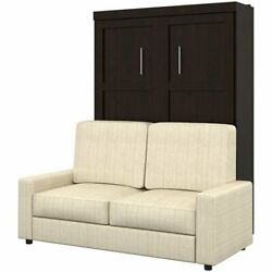 Bestar Pur 2 Piece Full Wall Bed Set In Chocolate And Tan