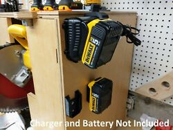 Wall Mount For Dewalt Dcb107 Charger With Optional 20v Max Battery Mounts