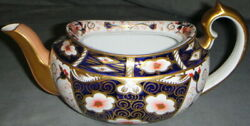 Royal Crown Derby Traditional Imari Teapot Without Lid