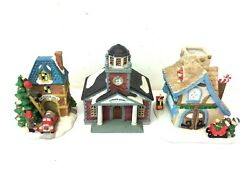 Victorian Village 1997 Ed Hand Painted Porcelain Christmas Decorations Houses