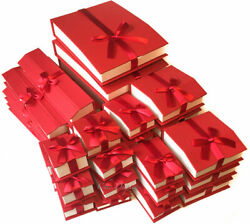 Red Jewelry Gift Boxes For Jewelry Boxes Magnetic Ribbon Quality Gift Boxes
