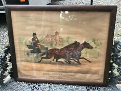 Early Antique Advertising Print Vacuum Oil Company Pre Socony