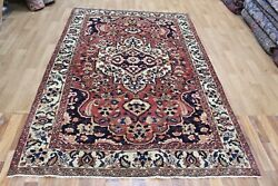 Antique Handmade Persian Tribal Rug 254 X 170 Cm Hand Knotted Persian Wool Rug