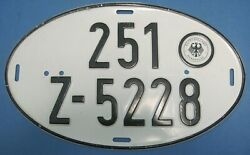 Germany License Plate Oval From Hauptzolamt Darmstadt