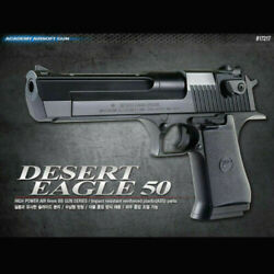 [academy] Desert Eagle 50 Black Airsoft /6mm Hand Grips Toy , Full Size