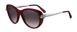 Cartier Women Sunglasses CT0060S-003-PANTHERE Burgundy  Grey Gradient Lenses