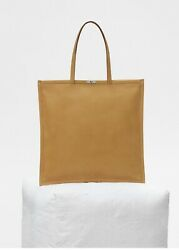 * CELINE * 2017 RUNWAY MEDIUM FLAT TOTE BAG IN DARK YELLOW SOFT BARE CALFSKIN  $2,900.00