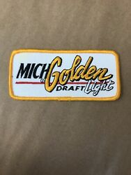 """Vintage Michelob Golden Draft Light Beer Embroidered Patch 4.5"""" Badge Mich"""