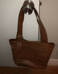 Brown Leather Coach Over The Shoulder Bag $25.00