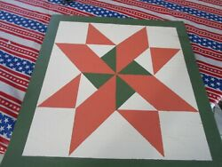 Floyd County Wood Barn Quilt Handmade Primitive Rustic Country Wall Decor