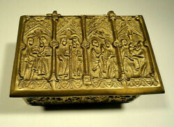 Solid Brass Christian Relic Box