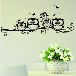 Wall Sticker Tree Animals Bedroom Home Decor Living Room Butterfly For Kids Room