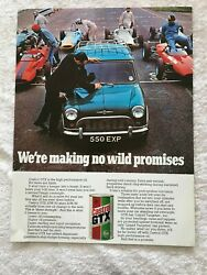 Castrol Gtx Motor Oil 1968 Poster Advert Ready To Frame A4 Size File S