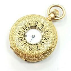 Beautiful Vintage Art Deco 18k Yellow Gold And Co Ladies Pocket Watch