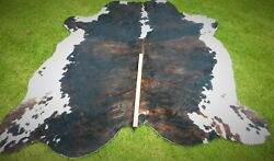 A21 Huge Genuine Cow Hide Real Bull Skin 9and039x7and039 Dandeacutecor Wall Cover Rug Blanket Gift