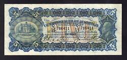 Australia R-42. 1927 Five Pounds - Riddle/heathershaw.. Geo V Portrait.. Fine+