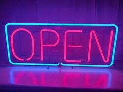 Vintage Everbrite Neon Open Sign 36 X 16