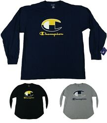 Champion Menand039s Big And Tall Long Sleeve Shirts - Available In Multiple Colors