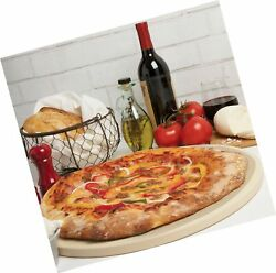 Cucinapro Pizza Stone For Oven Grill Bbq- Round Pizza Baking Stone- Xl 16.5...