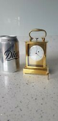 Elegant Quarter Repeater Two Gongs Brass Carriage Clock