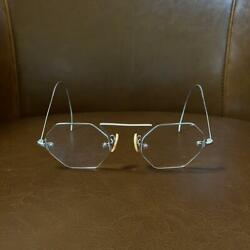Vintage 1930's Octagon Two Point Eye Glass Incarnation Frame From Japan F/s