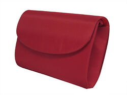 New Women#x27;s Colorful Creations Red Purse Evening Clutch Wedding Prom Formal $11.69