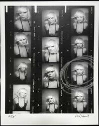 Debbie Harry Photo Contact Sheet Signed Art Print By David Croland Blondie Rare