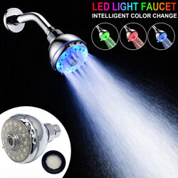 Colorful Led Light Filtration Shower Head 7 Colors Switching Water Bath Bathroom
