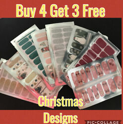 CHRISTMAS COLOR NAIL POLISH STRIPS B4G3 FREE $3.00