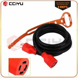 10ft 125/250v 30amp Generator Power Cord Extension Cable Twist Lock 4-prong Plug