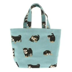 Kotobuki Japanese Mini Tote Student Women Shoulder Bag Handbag Cotton Puppies $19.95