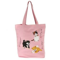 Kotobuki Japanese Student Women Shoulder Tote Bag Handbag Puppy Kitten Playtime $19.95